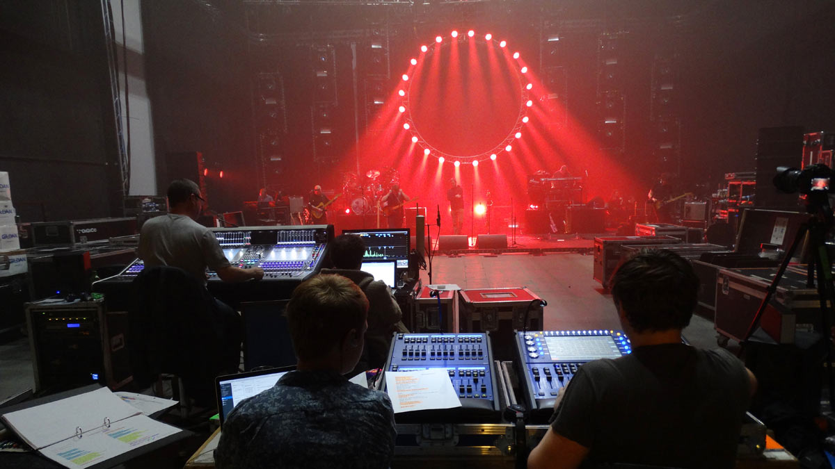 Entec - the Australian Pink Floyd show rehearsals