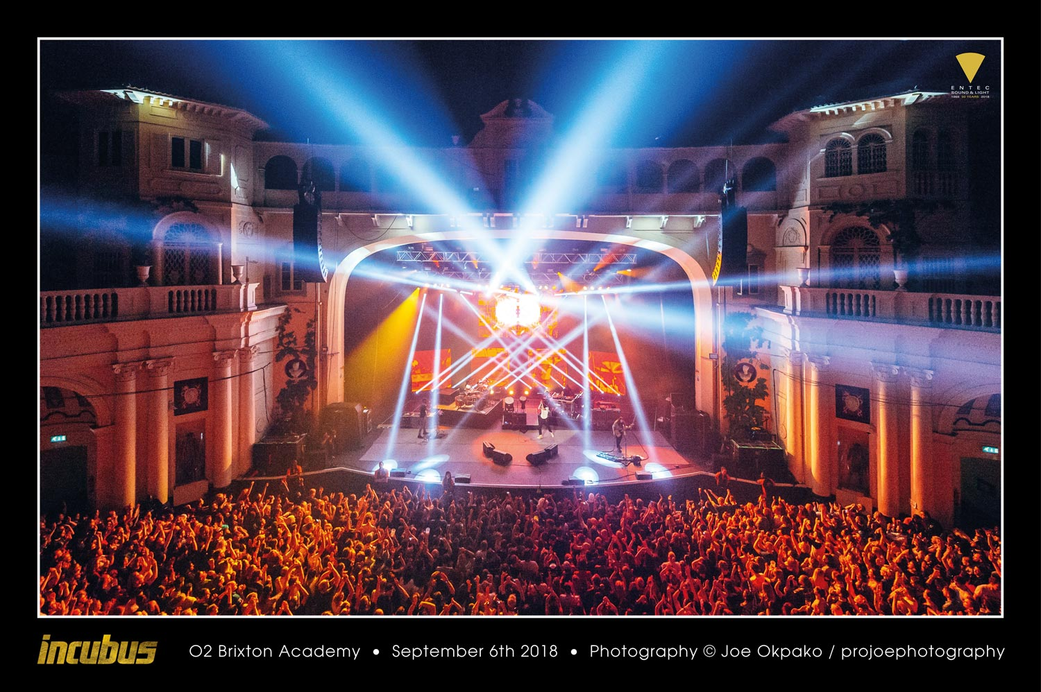 ENTEC LIGHTS THE WAY FOR INCUBUS IN EUROPE