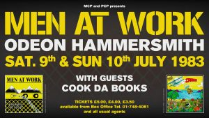 Men at Work Hammersmith Odeon flyer