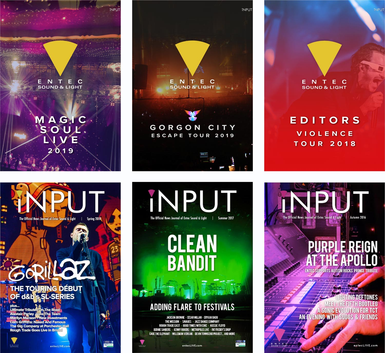 iNPUT Library – Entec Sound and Light